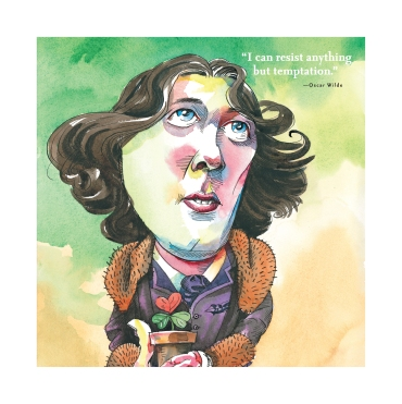 Oscar Wilde illustrated in For the Love of Being Irish