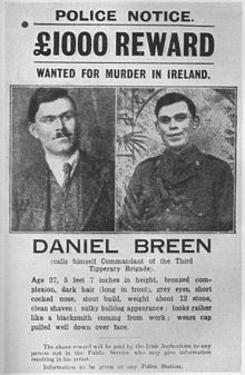 Dan Breen Wanted Poster IRA