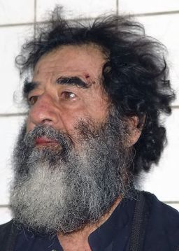 bearded Saddam Hussein after capture