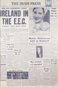 1973-Irish-Press-1st-January Ireland in the EU