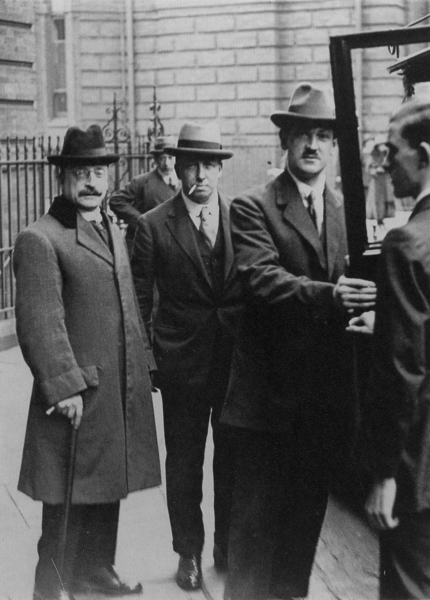 Arthur Griffith, Robert Barton, Michael Collins at Treaty Negotiations