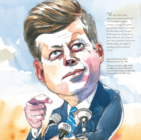 JFK image in For the Love of Being Irish