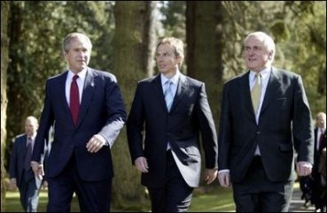 Bush meeting with blair and aherne
