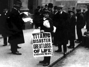 newsboy ned parfett Titanic sinking