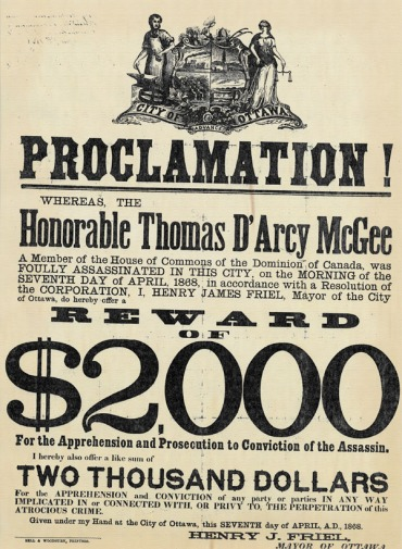 wanted poster thomas d'arcy mcgee killer