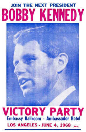 bobby kennedy california election victory