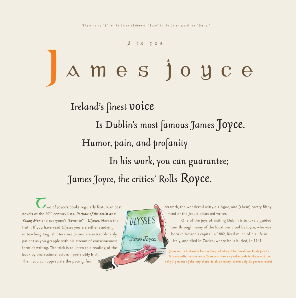 James Joyce for the love of being of Irish