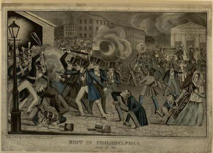 Philadelphia Nativist anti-Catholic riots 1844