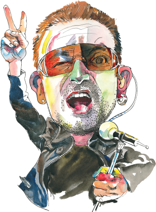 Bono at Today in Irish History