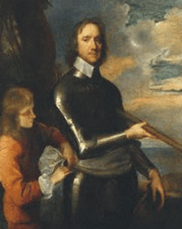 Oliver Cromwell at Today in Irish History portrait British National Portrait Gallery