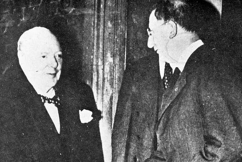 Churchill and De Valera meeting 1953