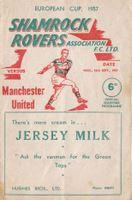 shamrock rovers V Manchester United 1957