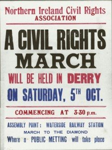 Civil Rights poster 1968 derry londonderry