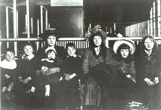 Irish Family at Ellis Island