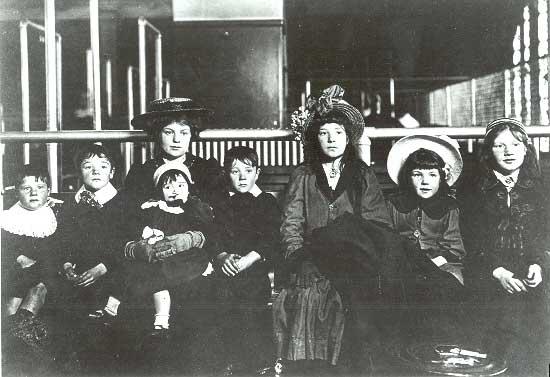 Irish Family at Ellis Island