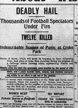Bloody Sunday 1920 Newspaper report