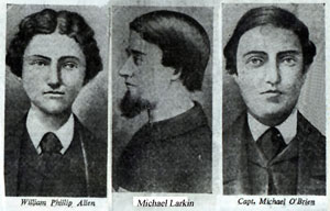 The Manchester Martyrs - Allen, Larkin and O'Brien