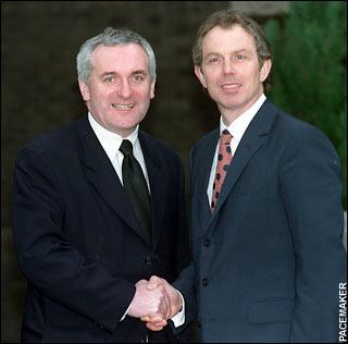 Tony Blair with Bertie Ahern