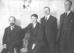 Treaty negotiators: Duffy, Collins, Griffith, Barton