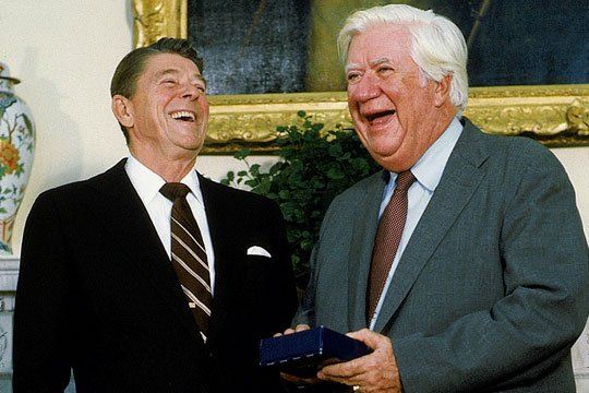 Reagan with Tip O'Neill