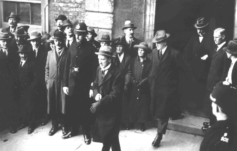 Kevin O'Higgins and Collins following handover of Dublin Castle
