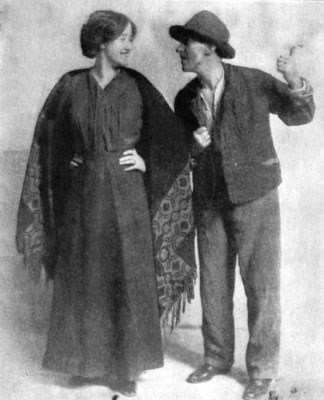 "actors Sara Allgood (""Widow Quinn"") and J. M. Kerrigan (""Shawn Keogh""), in The Playboy of the Western World, Plymouth Theatre, Boston, 1911"