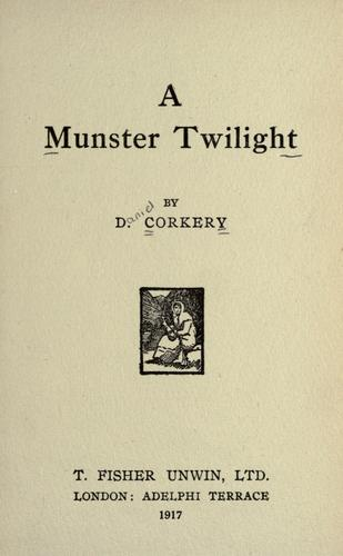 daniel corkery - a munster twilight