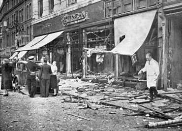 Aftermath of IRA bomb attack Coventry 1939