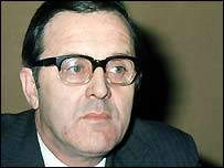 Northern Ireland Secretary Merlyn Rees