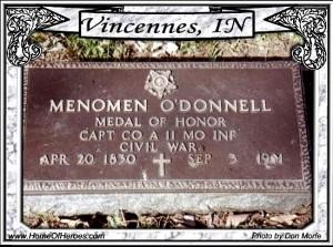 Menomen O'Donnell headstone  irish medal of honor winners