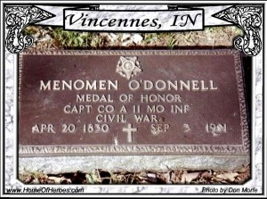 Menomen O'Donnell headstone  irish medal of honor winners