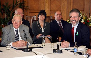 Ian Paisley and Gerry Adams
