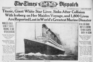 Titanic newspaper report